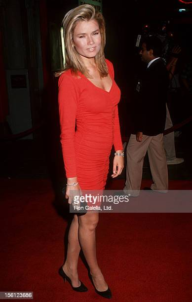 Actress/Model Kimber Sissons attending the premiere of 'Sibling Rivalry' on October 24 1990 at Mann Chinese Theater in Hollywood California