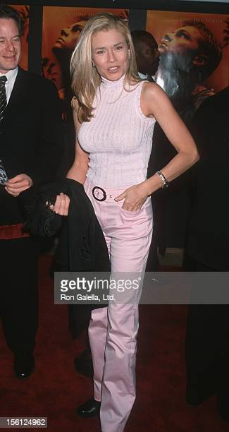 Actress/Model Kimber Sissons attending the screening of 'The Beach' on February 2 2000 at Mann Chinese Theater in Hollywood California