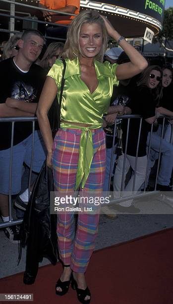 Actress/Model Kimber Sissons attending the world premiere of 'Batman Forever' on June 9 1995 at Mann Village Theater in Westwood California