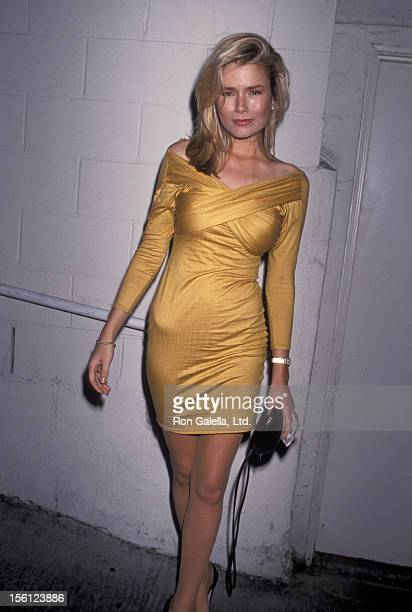 Actress/Model Kimber Sissons being photographed on February 14 1991 at Spago Restaurant in West Hollywood California