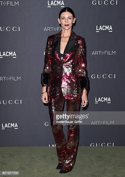 Actress/model Liberty Ross attends the 2016 LACMA Art Film Gala honoring Robert Irwin and Kathryn Bigelow presented by Gucci at LACMA on October 29...