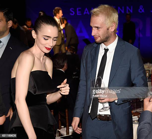 Actress/model Lily Collins and actor Hopper Penn attend the 6th Annual Sean Penn Friends HAITI RISING Gala Benefiting J/P Haitian Relief...