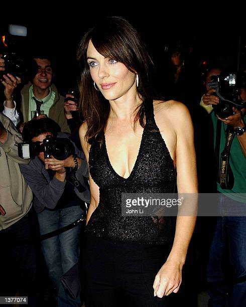 Actress/model Liz Hurley arrives at Italian restaurant San Lorenzo in Knightsbridge to celebrate shoe designer Jimmy Choo's new concession at the...