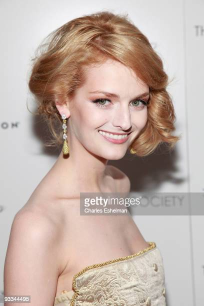 """Actress/model Lydia Hearst attends a screening of """"Me And Orson Welles"""" hosted by the Cinema Society, Screenvision and Brooks Brothers at Clearview..."""