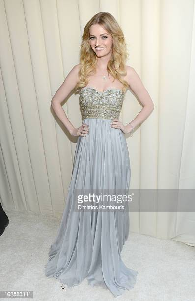 Actress/model Lydia Hearst attends the 21st Annual Elton John AIDS Foundation Academy Awards Viewing Party at West Hollywood Park on February 24 2013...