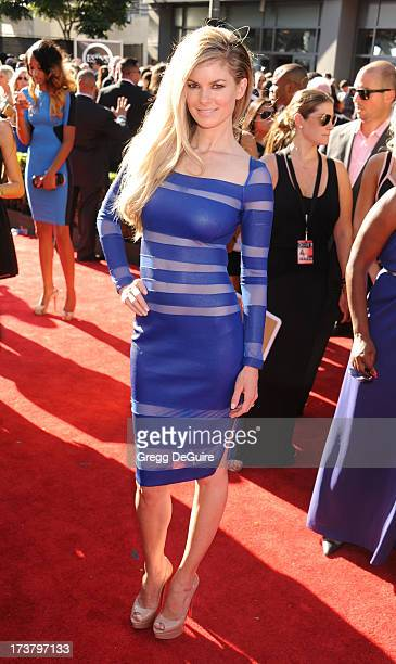 Actress/model Marisa Miller arrives at the 2013 ESPY Awards at Nokia Theatre LA Live on July 17 2013 in Los Angeles California