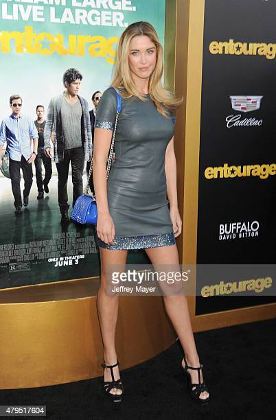 Actress/model Melissa Bolona arrives at the 'Entourage' Los Angeles premiere at Regency Village Theatre on June 1, 2015 in Westwood, California.