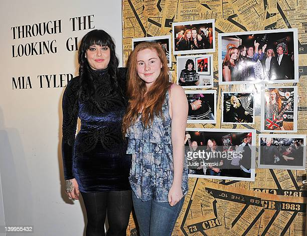 Actress/model Mia Tyler with model Kelsey Costello attends the Art Photographer of Mia Tyler exhibit at RIFF's WTF Saturday>> on February 25 2012 in...