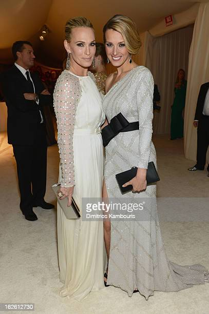 Actress/model Molly Sims and model Petra Nemcova attend the 21st Annual Elton John AIDS Foundation Academy Awards Viewing Party at West Hollywood...