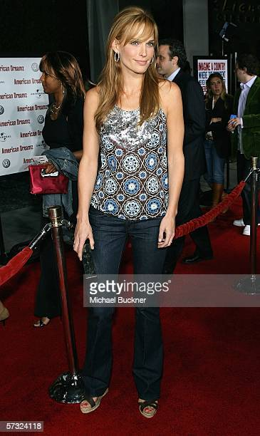 Actress/model Molly Sims arrives at the Universal Pictures Premiere of American Dreamz at the ArcLight Theatre on April 11 2006 in Hollywood...