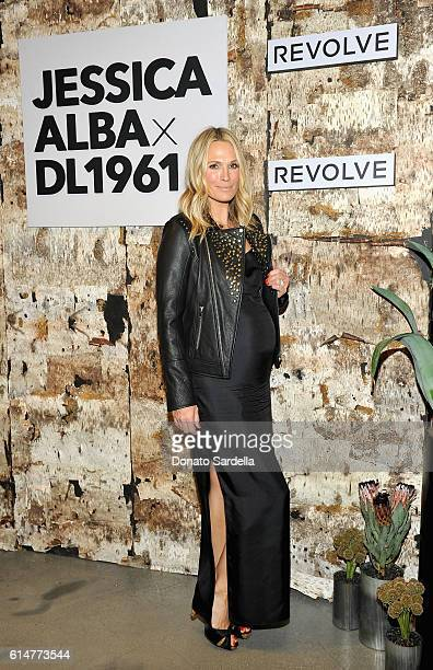 Actress/model Molly Sims attends the DL1961 x Jessica Alba Collection Event at the REVOLVE Social Club on October 14, 2016 in West Hollywood,...