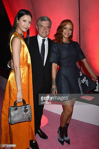 Actress/model Nanao Christian Dior CEO Sydney Toledano and Rihanna attend the after party for the Christian Dior TOKYO Autumn/Winter 201516...