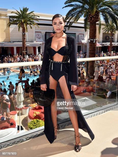 Actress/model Olivia Culpo attends Sports Illustrated Swimsuit new issue launch and model search winners celebration at Encore Beach Club in Wynnn...