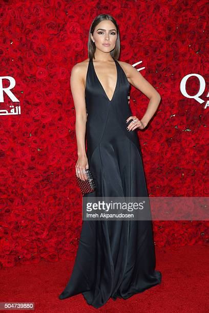 Actress/model Olivia Culpo attends the Qatar Airways Los Angeles Gala at Dolby Theatre on January 12 2016 in Hollywood California