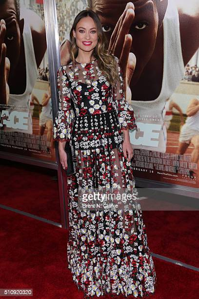 Actress/model Olivia Wilde attends the Race New York screening held at Landmark's Sunshine Cinema on February 17 2016 in New York City