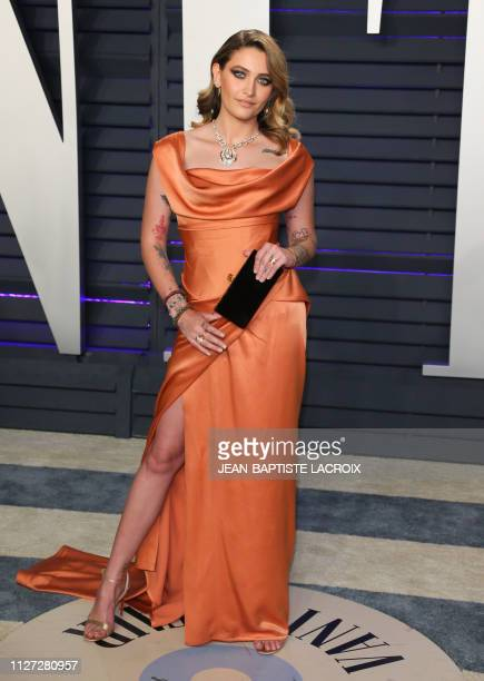 Actress/model Paris Jackson attends the 2019 Vanity Fair Oscar Party following the 91st Academy Awards at The Wallis Annenberg Center for the...
