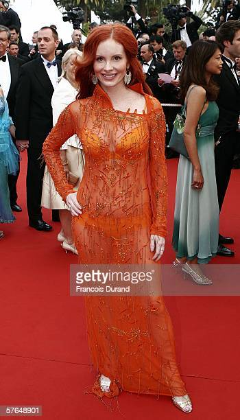 Actress/model Phoebe Price attends the 'The Wind That Shakes The Barley' premiere during the 59th International Cannes Film Festival May 18 2006 in...