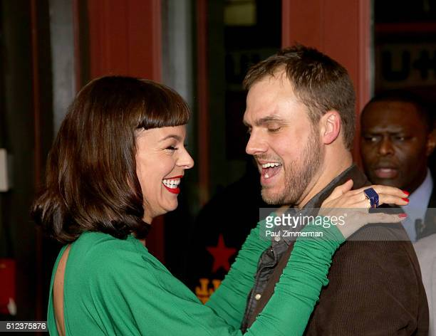 Actress/model Pollyanna McIntosh and director executive producer and writer Jim Mickle attend Hap And Leonard private premiere party at Hill Country...