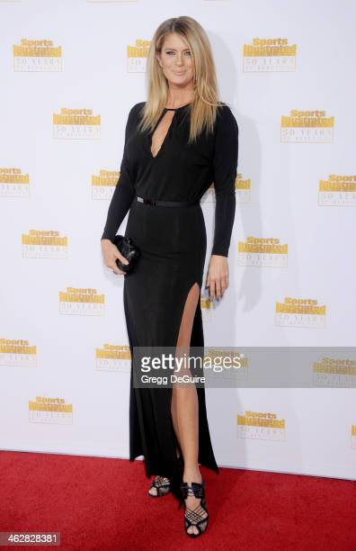 Actress/model Rachel Hunter arrives at the 50th Anniversary Celebration Of Sports Illustrated Swimsuit Issue at Dolby Theatre on January 14 2014 in...