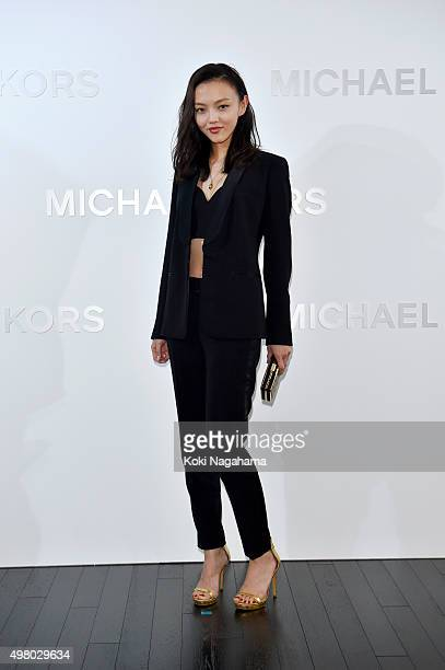 Actress/model Rila Fukushima attends the opening event for the Michael Kors Ginza Flagship Store on November 20 2015 in Tokyo Japan