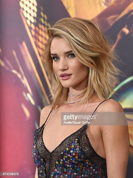 Actress/model Rosie Huntington-Whiteley arrives at the Los Angeles premiere of 'Mad Max: Fury Road' at TCL Chinese Theatre IMAX on May 7, 2015 in...