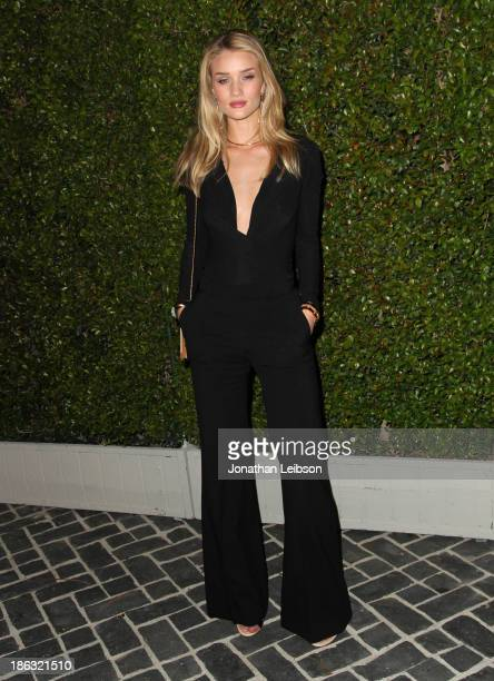 Actress/model Rosie HuntingtonWhiteley attends Chloe Los Angeles Fashion Show Dinner hosted by Clare Waight Keller January Jones and Lisa Love on...