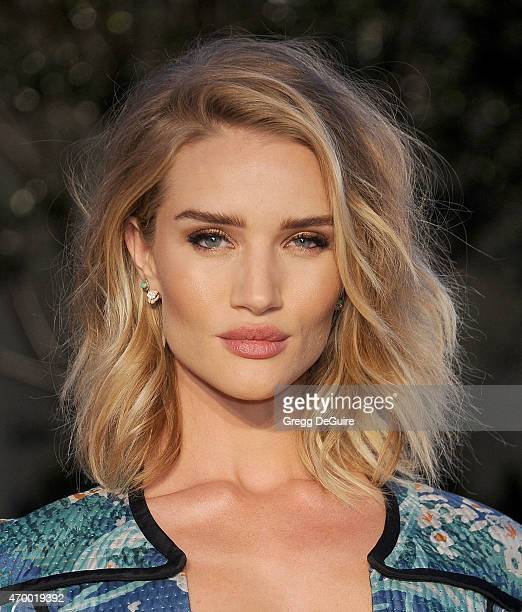 Actress/model Rosie HuntingtonWhiteley attends the Burberry 'London in Los Angeles' event at Griffith Observatory on April 16 2015 in Los Angeles...