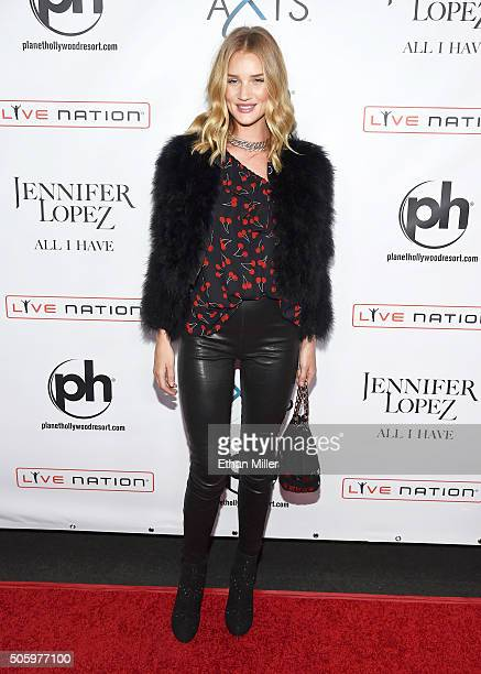 Actress/model Rosie HuntingtonWhiteley attends the launch of Jennifer Lopez's residency 'JENNIFER LOPEZ ALL I HAVE' at Planet Hollywood Resort Casino...