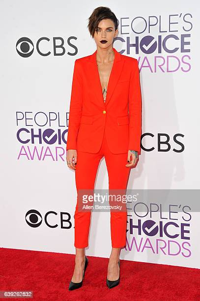 Actress/model Ruby Rose arrives at People's Choice Awards 2017 at Microsoft Theater on January 18 2017 in Los Angeles California
