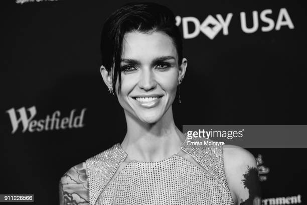Actress/model Ruby Rose arrives at the 2018 G'Day USA Los Angeles Black Tie Gala at InterContinental Los Angeles Downtown on January 27 2018 in Los...