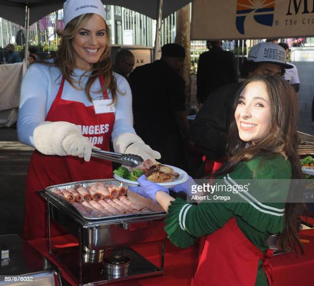 Actress/model Sandra Taylorand actress Ava Cantrell attend The Los Angeles Mission's Christmas Celebration On Skid Row held at Los Angeles Mission on...