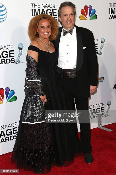 Actress/model Shari Belafonte and actor Sam Behrens attend the 44th NAACP Image Awards at The Shrine Auditorium on February 1 2013 in Los Angeles...