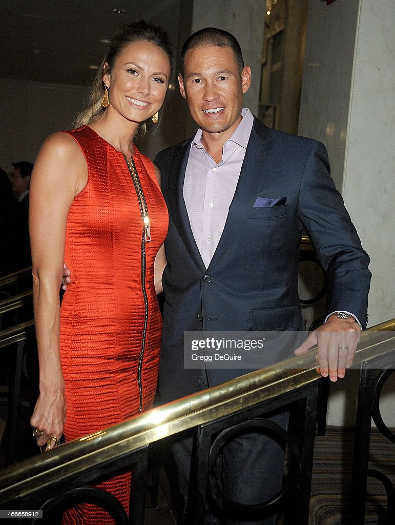 Actress/model Stacy Keibler and husband Jared Pobre arrive at The Independent School Alliance For Minority Affairs Impact Awards Dinner at Four Seasons Hotel Los Angeles at Beverly Hills on March 17, 2015 in Los Angeles, California.