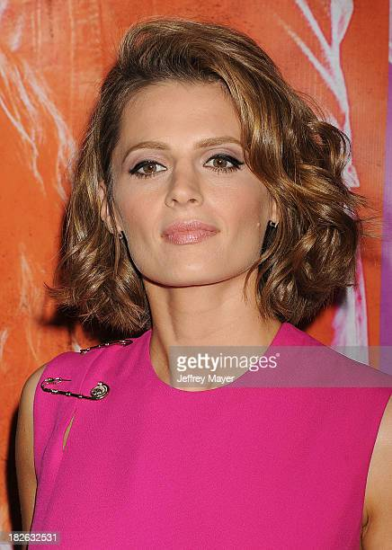 "Actress/model Stana Katic arrives at the ""CBGB"" Special Screening at ArcLight Cinemas on October 1, 2013 in Hollywood, California."