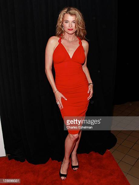 Actress/model Stephanie Romanov attends the American Express and Cinema Society premiere of 'Last Night' during the 10th annual Tribeca Film Festival...