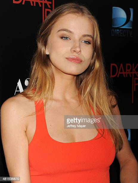 Actress/model Tanya Mityushina arrives at the Premiere Of DIRECTV's 'Dark Places' at Harmony Gold Theatre on July 21 2015 in Los Angeles California