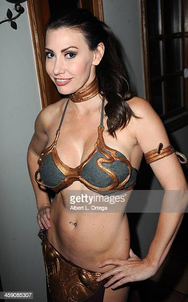 Actress/model Tawny Amber Young attends SyFy's 'Monster Man' Cleve A Hall's Annual Halloween Party held at a private location on October 31 2013 in...