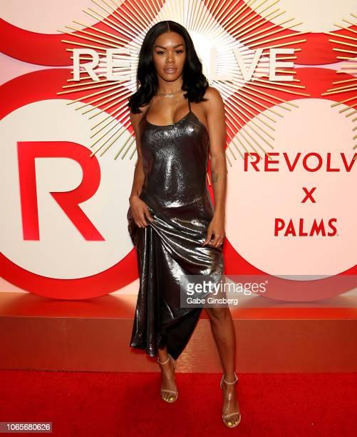 Actress/model Teyana Taylor attends Revolve's second annual #REVOLVEawards at Palms Casino Resort on November 9, 2018 in Las Vegas, Nevada.