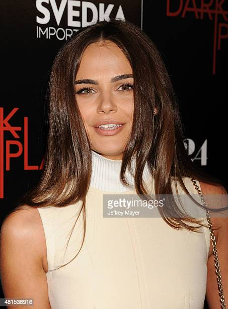 Actress/model Xenia Deli arrives at the Premiere Of DIRECTV's 'Dark Places' at Harmony Gold Theatre on July 21 2015 in Los Angeles California
