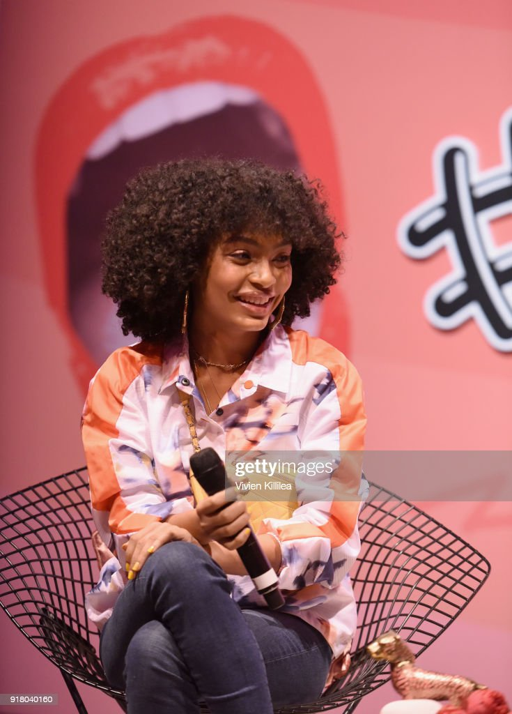 Actress/model/activist Yara Shahidi attends PUMA Galentine's Day Event with Yara Shahidi and Elaine Welteroth at Siren Studios on February 13, 2018 in Hollywood, California.