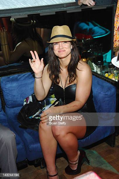Actress/Model/MMA Fighter Gina Carano celebrates her 30th birthday at the Tabu Ultra Lounge at the MGM Grand Hotel & Casino on April 21, 2012 in Las...