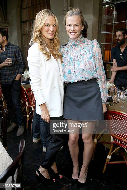 Actress/Models Molly Sims and Brooklyn Decker attend Jennifer Meyer for the Zoe Report Dinner at Chateau Marmont on June 18 2014 in Los Angeles...