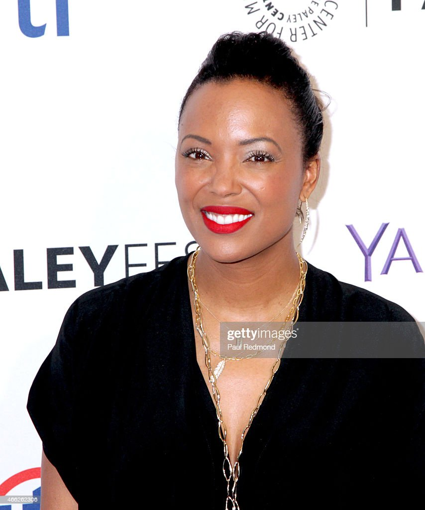 Actress/moderator Aisha Tyler attends The Paley Center For Media's 32nd Annual PALEYFEST LA - 'Arrow' And 'The Flash' at Dolby Theatre on March 14, 2015 in Hollywood, California.