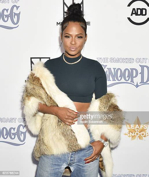 Actress/musical artist Christina Milian attends Fusion's All Def Roast The Smoked Out Roast of Snoop Dogg at Avalon Hollywood on November 16 2016 in...