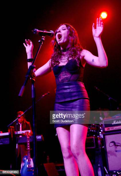 Actress/musician Chelsea Talmadge performs onstage during the Strange 80's benefit at The Fonda Theatre on May 14 2017 in Los Angeles California