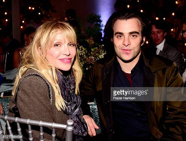 Actress/musician Courtney Love and director Nicholas Jarecki attend Global Green USA's 13th annual preOscar party at Mr C Beverly Hills on February...
