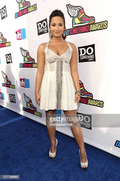Actress/Musician Demi Lovato arrives at the 2011 VH1 Do Something Awards at the Hollywood Palladium on August 14 2011 in Hollywood California