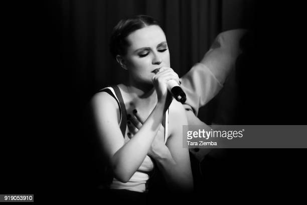 Actress/musician Evan Rachel Wood performs at The Hotel Cafe on February 15 2018 in Hollywood California