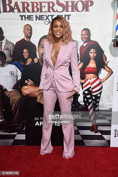 Actress/musician Eve attends the premiere of New Line Cinema's 'Barbershop The Next Cut' at TCL Chinese Theatre on April 6 2016 in Hollywood...