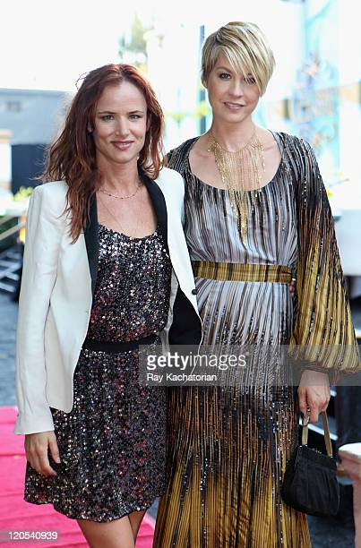 Actress/musician Juliette Lewis and actress Jenna Elfman attend the Church of Scientology Celebrity Centre 42nd Anniversary Gala held at the Church...